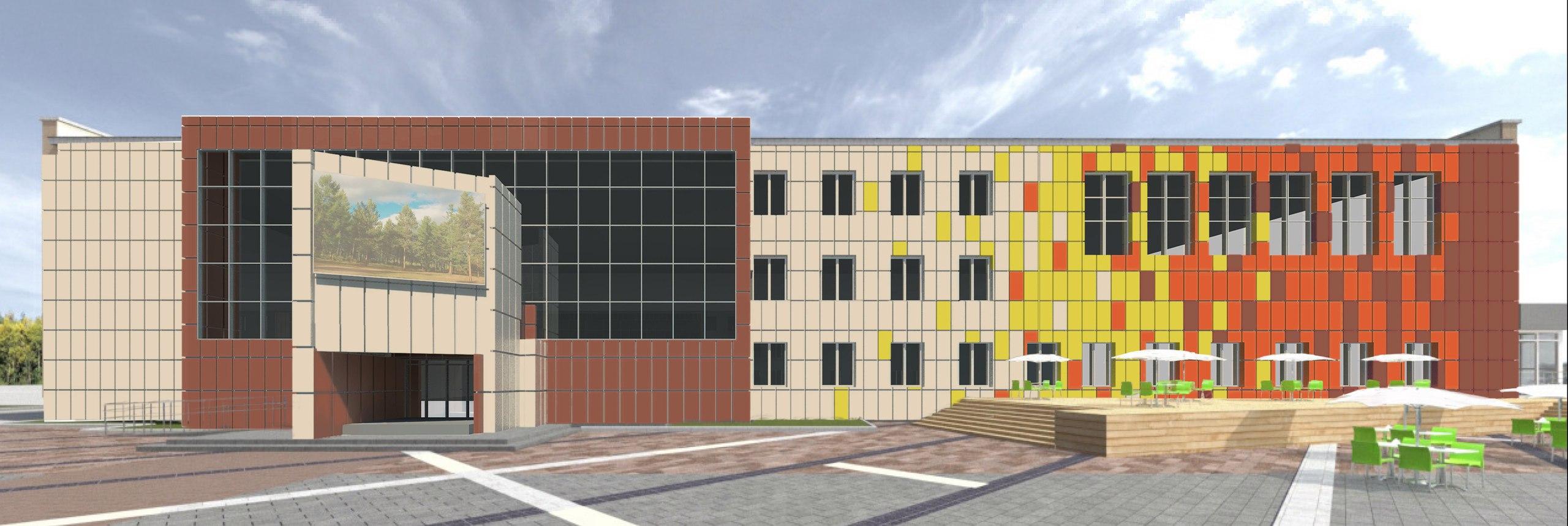 проект фасад Дворца молодежи, Чайковский, 2017 год