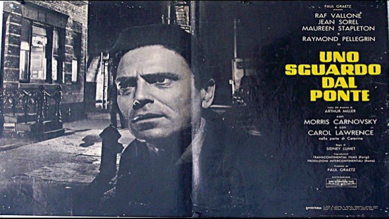 1961 Sidney Lumet -Uno sguardo dal ponte- Raf Vallone Maureen Stapleton Carol Lawrence Jean Sorel Raymond Pellegrin