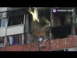 Прямая трансляция с места взрыва в жилом доме на проспекте Народного Ополчения в Петербурге