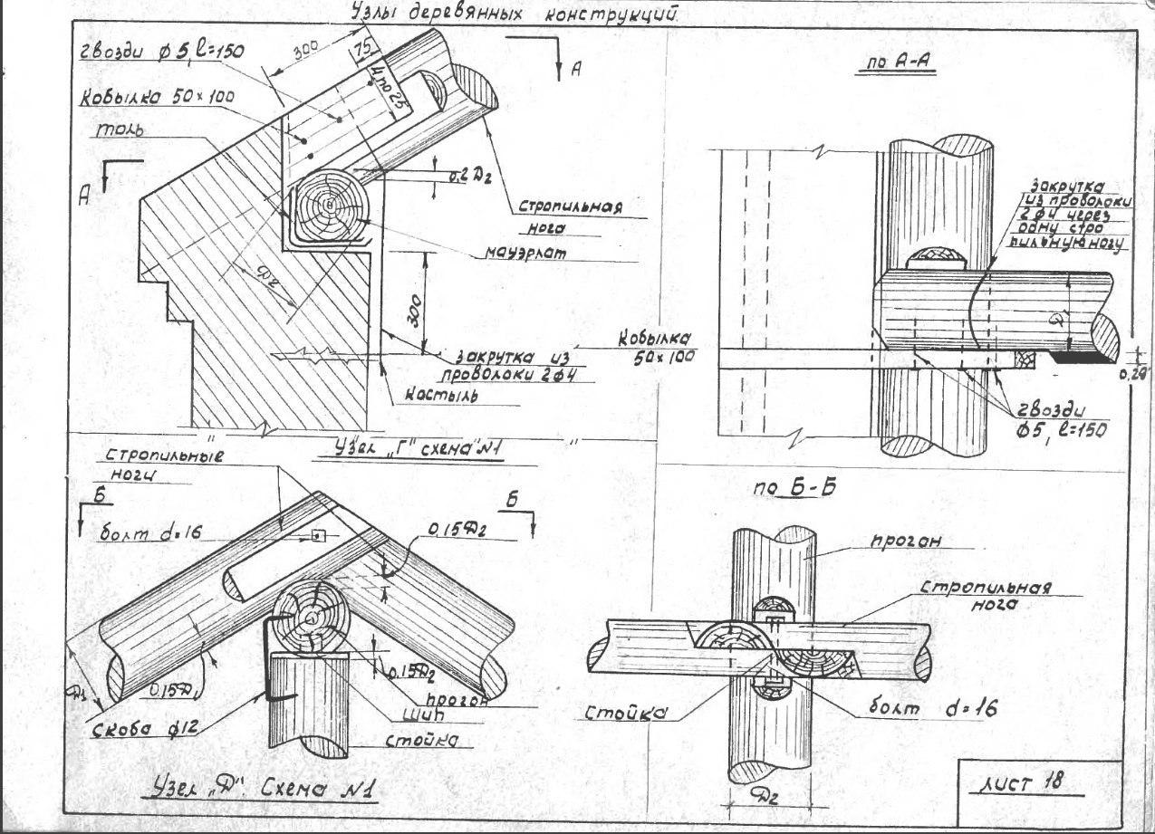 Крамаренко - Сборник конструкций узлов и элементов деревянных конструкций