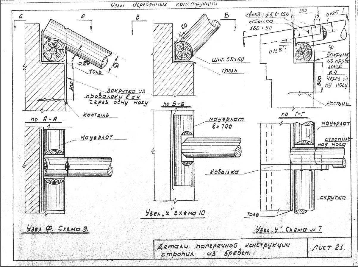Крамаренко — Сборник конструкций узлов и элементов деревянных конструкций