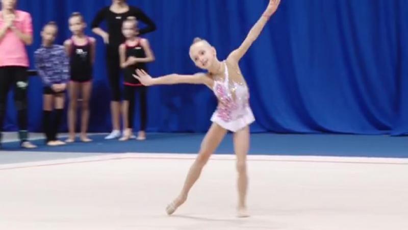 Выступление моей любимой гимнастки