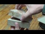 Треугольная шкатулка из сувели _ Triangular box made of wood