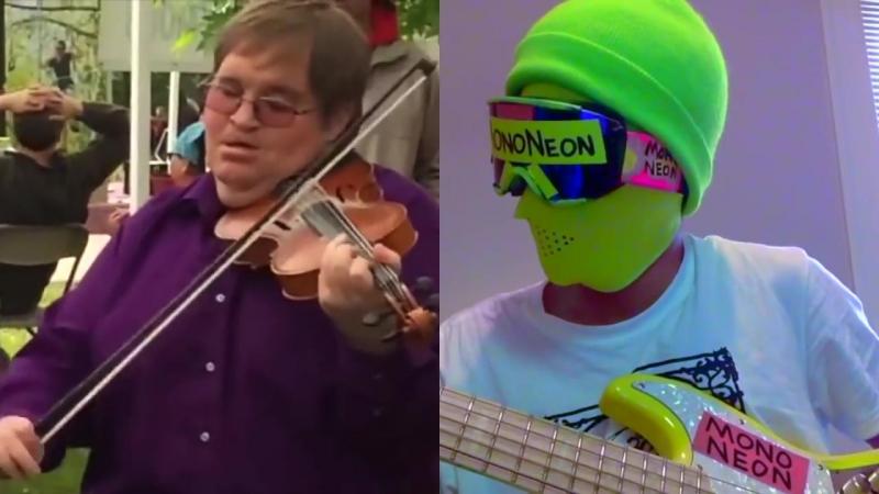 MonoNeon_ Bluegrass fiddle player Michael Cleveland