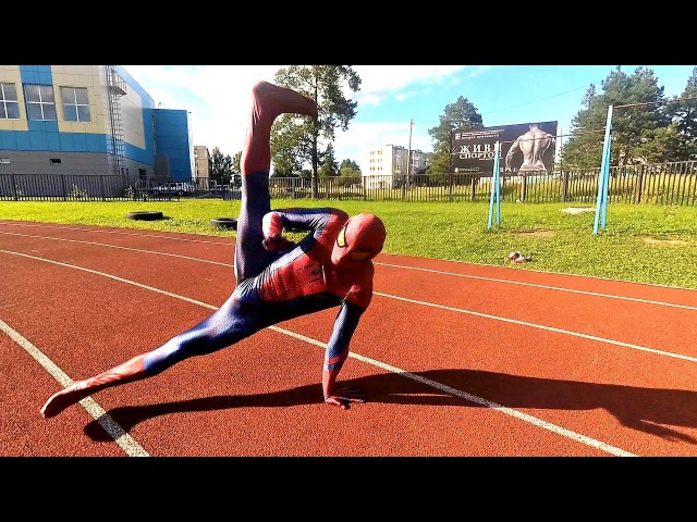 Spider-Man Parkour, BreakDance, Tricking Street Workout in real Life