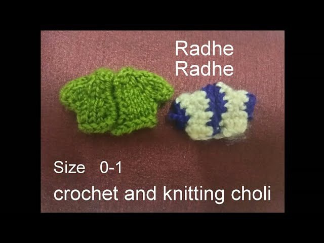 How to make corchet and knitting choli laddu gopal bal gopal dress (size 0 - 1)