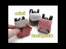 DIY Miniature Doll Accessories Mini Backpack School Bag - Functional - NO SEW!