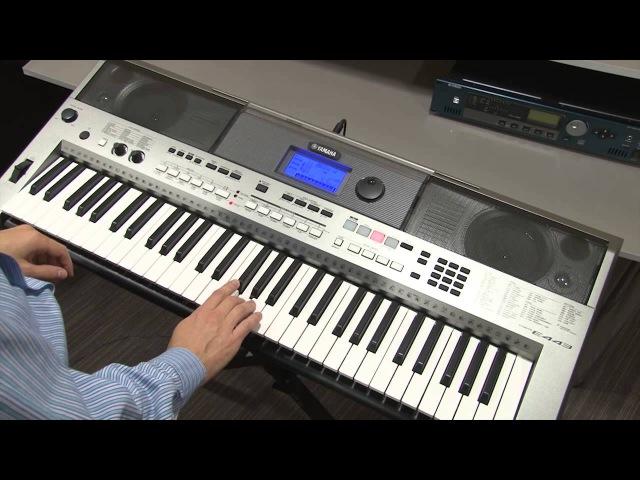 Музыкальная база данных MUSIC DATABASE инструмента Yamaha PSR-E443