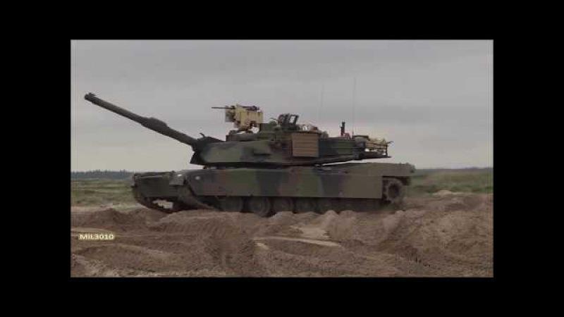 Танки Leopard 2A5 M1A2 Abrams в Дании