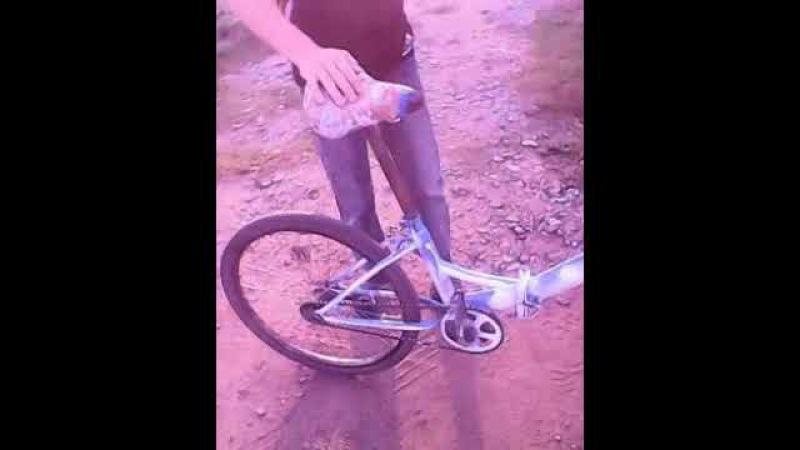 Обзор на разъ*баный велосипед Гроша. Или пид*расючая веловодовозка...