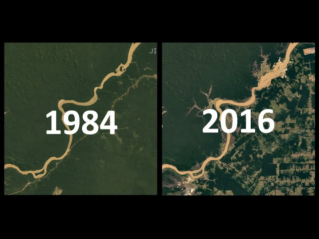 IMAGENS DE SATÉLITE 1984 2016 32 Anos de Mudanças na Terra