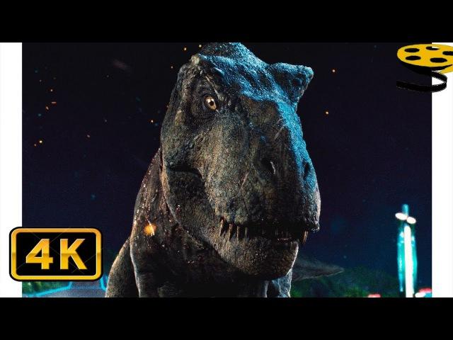 Тираннозавр Рекс и Блю против Индоминуса Рекса(Финальная Битва) | Мир Юрского периода | 4K ULTRA HD