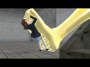 【MMD】 Stuck glue feet fetish 15 / ネバネバ靴下 - YouTube