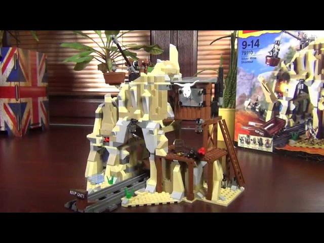 Обзор конструктора Лего Одинокий рейнджер 79110, перестрелка у серебряного рудника