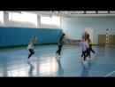 Хип-хоп с Алиной Павловой на районном конкурсе Смотра строя и песни 21.02.2018 г.