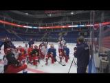 Тренировка сборной России по хоккею перед стартом Кубка Первого канала 2017