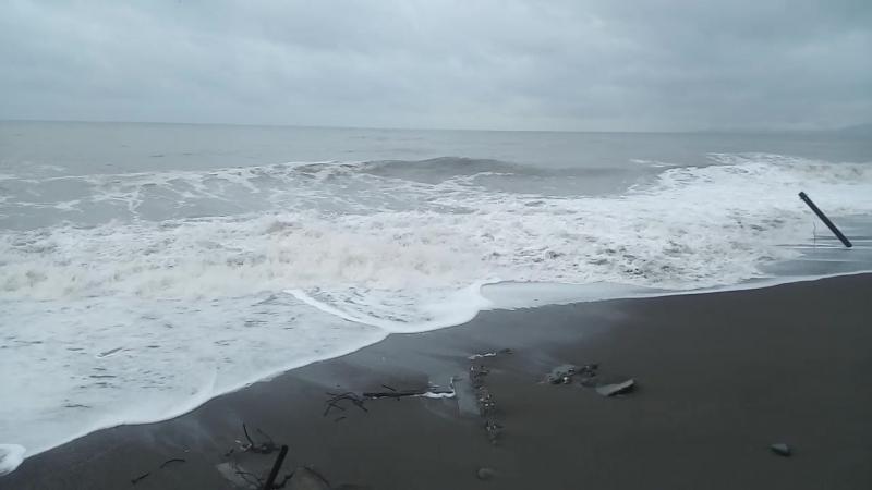 Сухуми. дикий пляж зимой