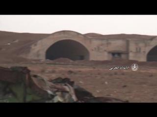 Visite de l'aéroport militaire d'Abu Dhuhour récemment capturé par l'armée arabe syrienne