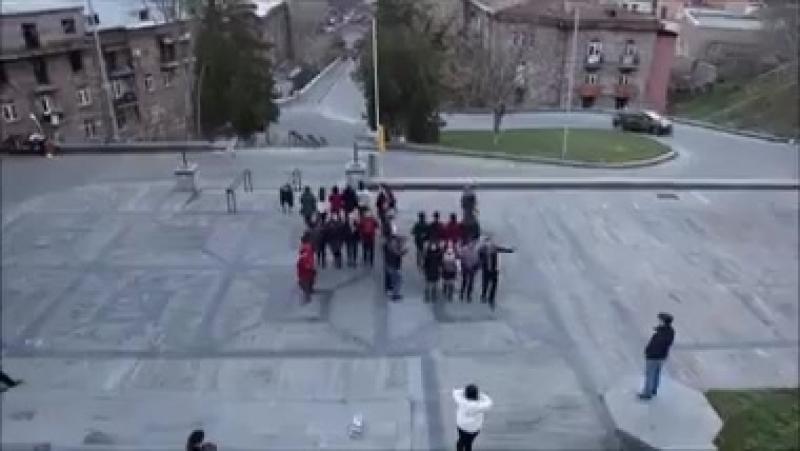 Армянские фашисты изобразили свастику в центре Еревана. Позор