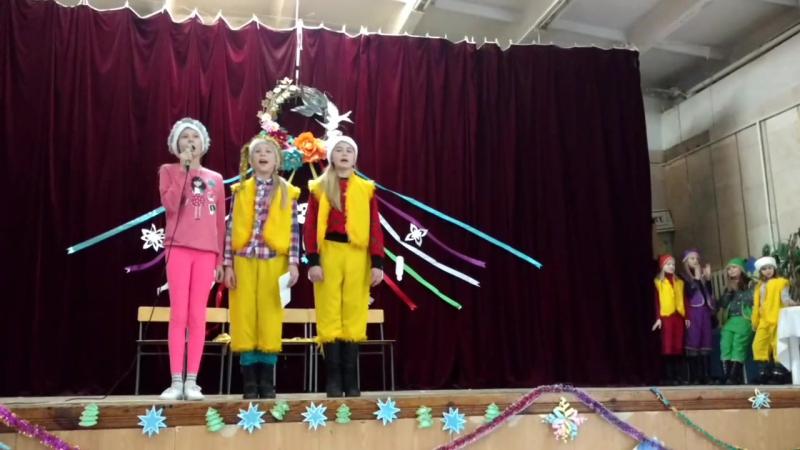 Орлятко. Грудень 17. Новорічний маскарад Новий Рік зустрічаємо разом. Аліна, Аліса і Маша 4 група Jungle Bell's 🇺🇦