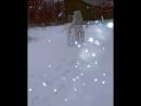 впервые по снегу 👼 моя Каролинка💕