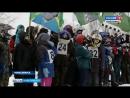 Этап областных соревнований по лыжным гонкам на мотоциклах прошел в Новосибирске.mp4