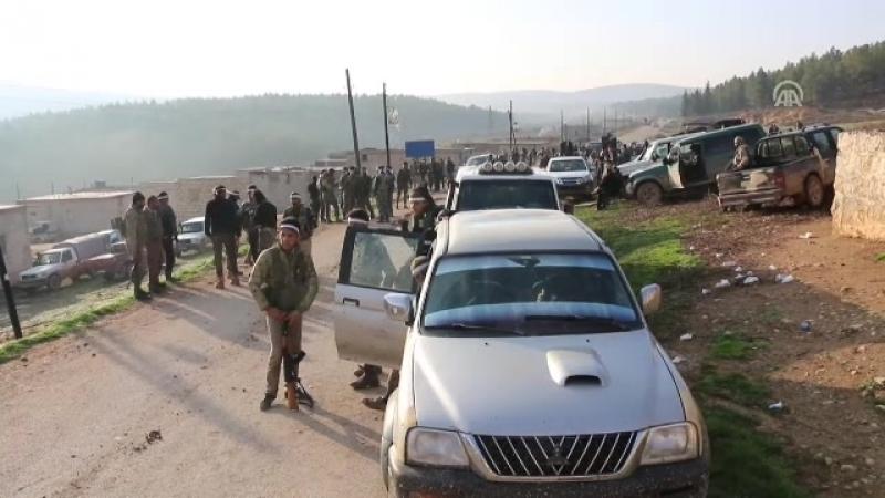 Бои в лагере террористов в Африне в объективе АА СОА захватила лагерь террористов YPGPKK у селения Омеранлы в Африне