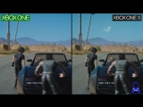 Сравнение графики Final Fantasy 15 на Xbox One и Xbox One X.