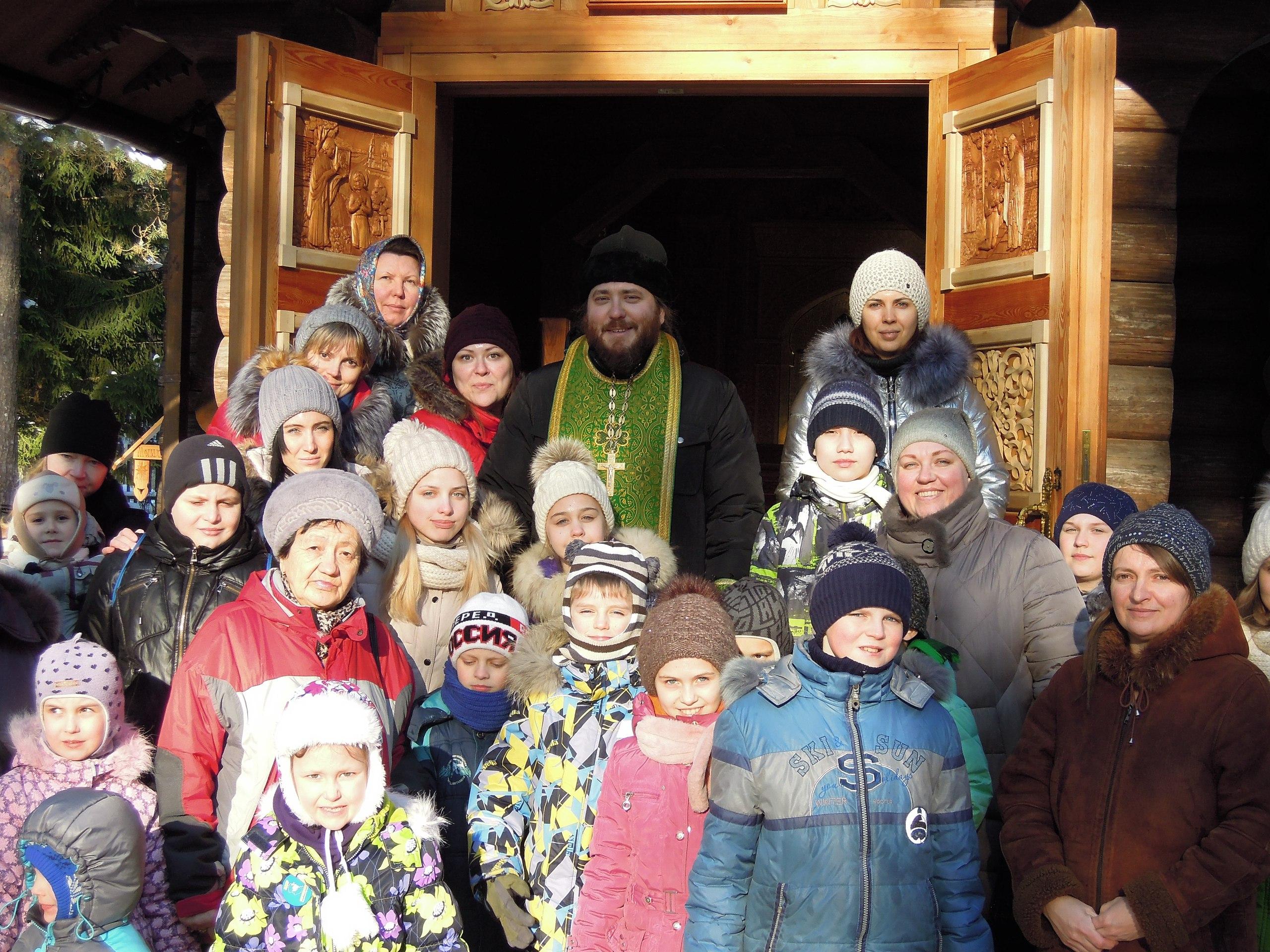 4-го февраля преподаватели и воспитанники Воскресной школы при храме Святого Равноапостольного князя Владимира в г.