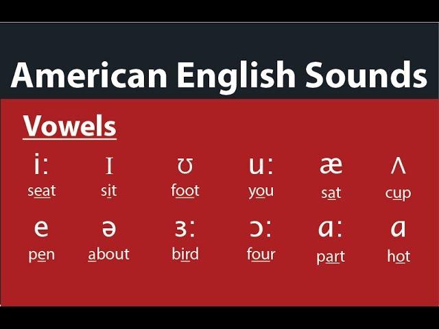 American English Pronunciation - The Vowels Sounds - Các nguyên âm, гласные, 모음, 母音,สระ, 元音