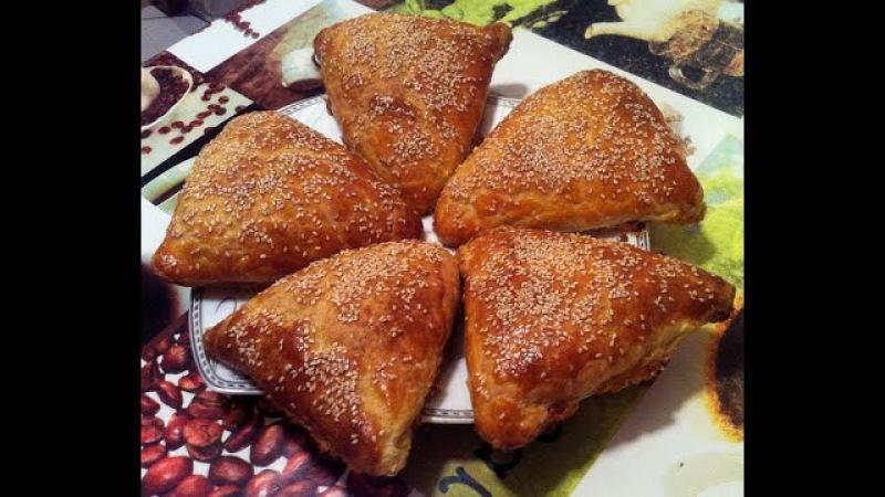 Треугольнички с Курицей со Слоеного Теста / Самса / Samsa / Простой Рецепт (Вкуснятина)