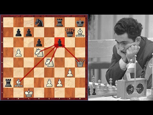 Attacking Game! Petrosian Again Goes For His Favorite Exchange Sacrifice