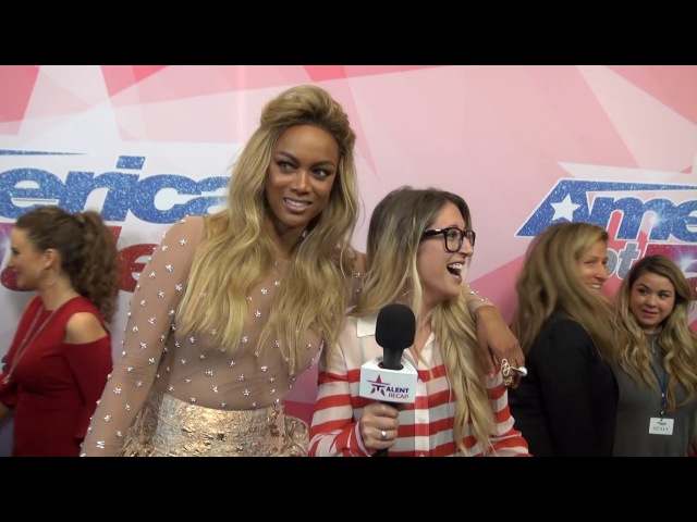 Tyra Banks Relives Her I WAS ROOTING For You Moment on AGT Finale Red Carpet