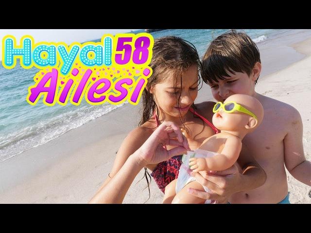 Hayal Ailesi Beach Duck House 👶🐤 Plajda bebek bakma oyunları. Kumdan şato yapıyoruz. Çocuk dizisi