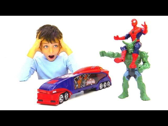 ЧеловекПаук vs Зелёный Гоблин! Гонки на крутых машинках🏁 ИгрыДляМальчиков