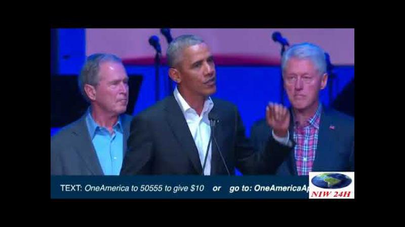 Cựu Tổng thống Mỹ phát biểu tại buổi hòa nhạc-(Niw 24h)