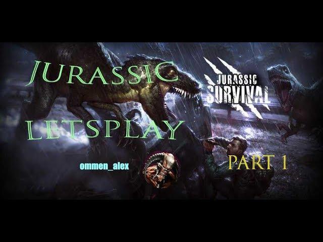 Jurassic survival летсплей (слепой) первые шаги 1