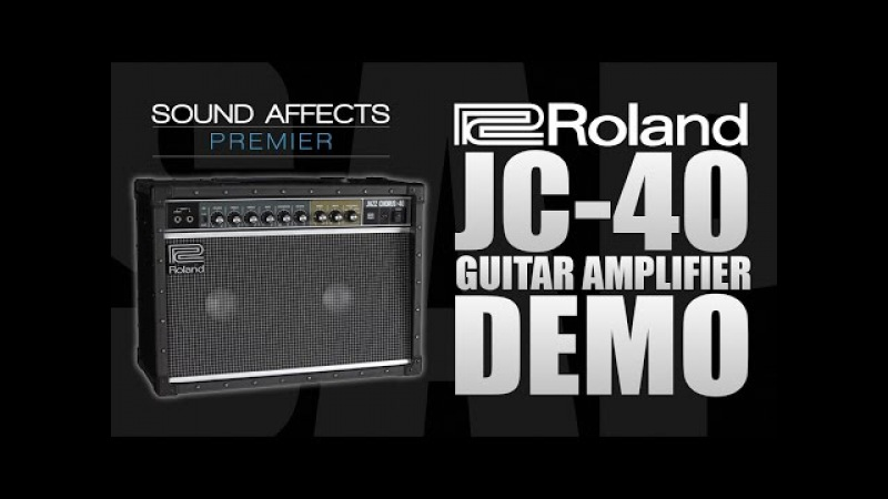 Roland JC-40 Jazz Chorus Guitar Amplifier Demo w/ Tom Quayle