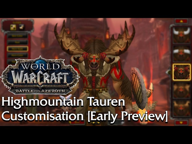 An Early Preview of the Highmountain Tauren Create Options | World of Warcraft