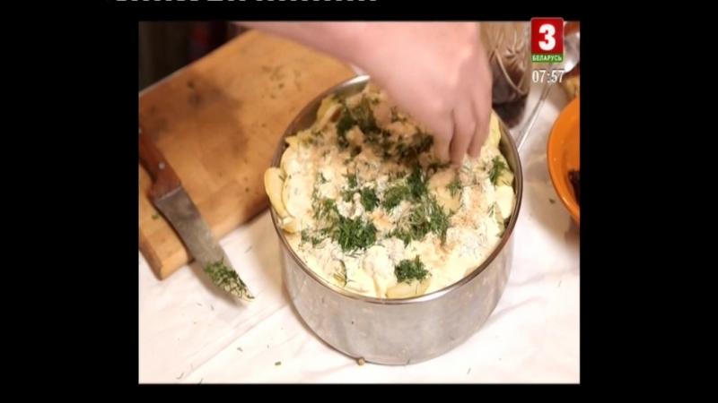 22 Беларуская кухня Запечёный картофель с грибами