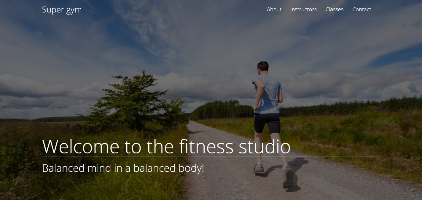 Fitness studio Landing Page Tutorial