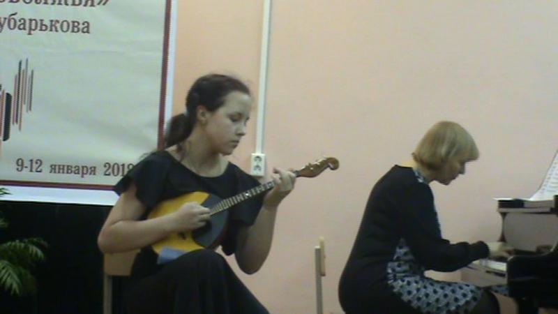Паганини Соната ля минор исполняет исполняет Садина Юлия