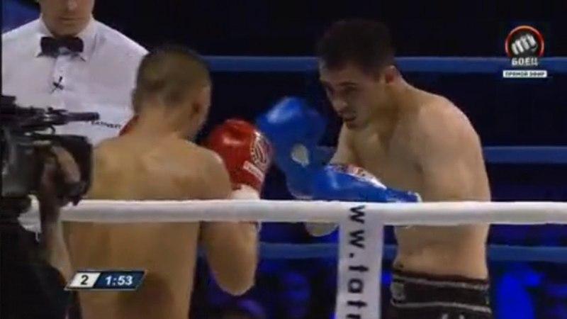 Бои без правил хороший бой Накдаун Роман Маилов Россия против Бекжан Матысаев Кыргызстан