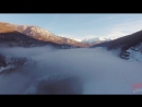 Туманное утро на Красной Поляне