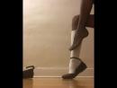 Pantyhose Shoe Dangle Schoolgirl part 2 Школьница играет балеткой