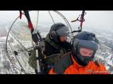 Зимний полёт. Лыжное шасси. Нижний край 600, в облаках обледенение.