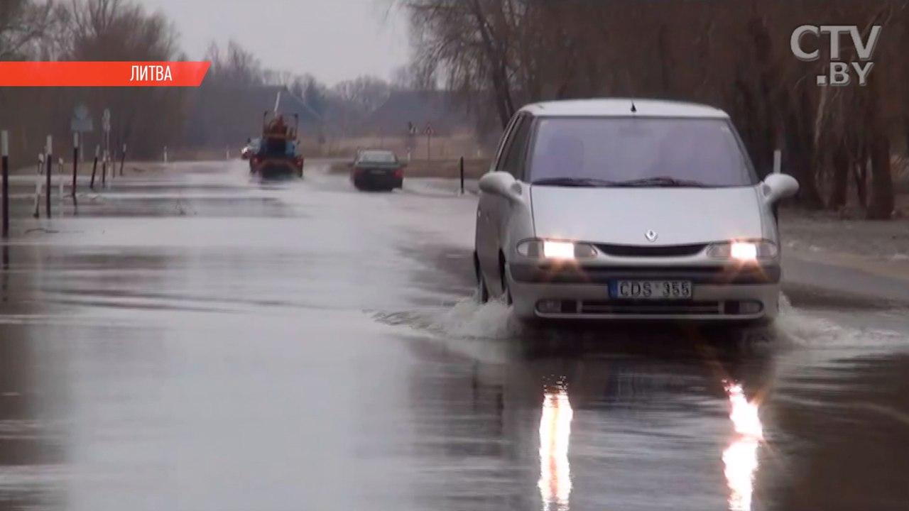 Литва объявила экстремальную ситуацию из-за ливней