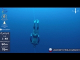 Gold medal freedive without fins to 90m, Alexey Molchanov, AIDA WC 2017