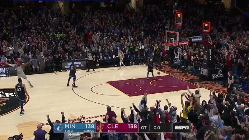 Buzzer-beater performed by LeBron James 720p