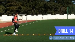 Football coaching video - soccer drill - ladder coordination (Brazil) 14